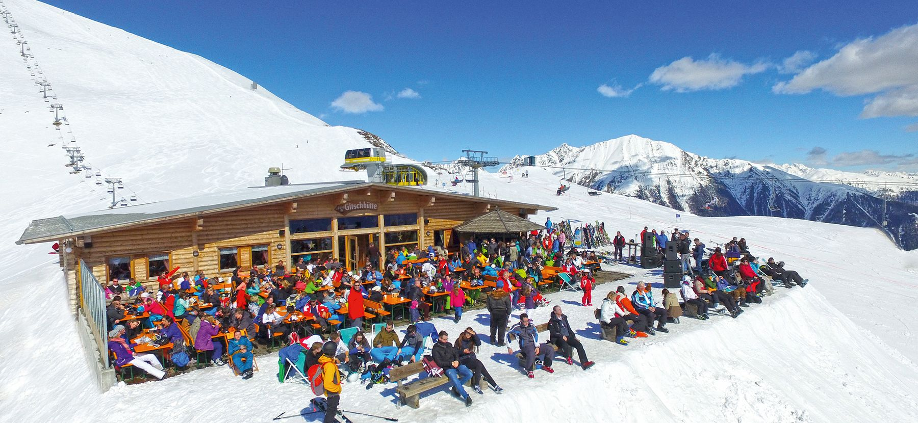 the gitschhütte in the hiking region and skiing resort of gitschberg